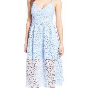 ASTR lace midi dress size S